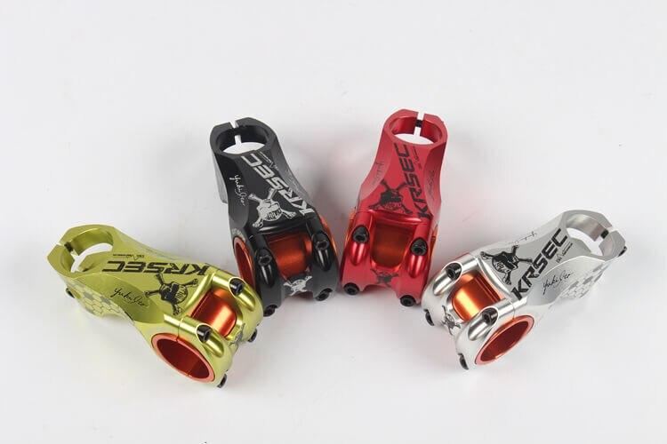 KRSEC 31.8/35*28.6*60mm tige de guidon de vélo en alliage d'aluminium vtt fourche de guidon de vélo de route de montagne connecter les tiges de Tube-17 degrés