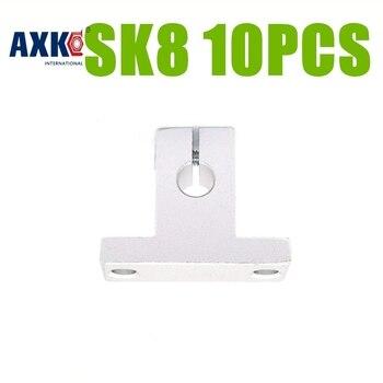 AXK Бесплатная доставка 10 шт. SK8 SH8A 8 мм линейный рельсовый вал Поддержка XYZ Таблица для 8 мм линейный вал SK8