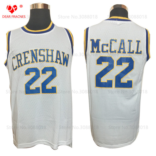 914f10b71e7c Cheap Throwback Basketball Jerseys  22 Quincy McCall Jersey Crenshaw High  School Movie Retro Stitched Jerseys