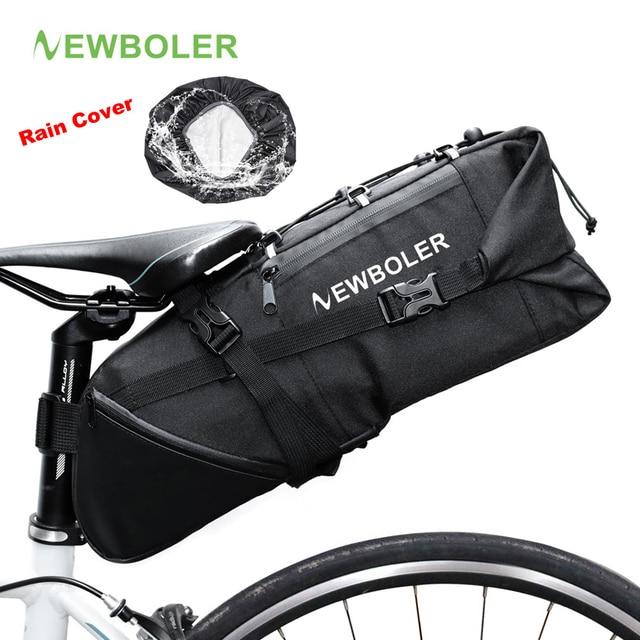 Atacado newboler bicicleta saco de sela pannier ciclo ciclismo mtb estrada da bicicleta saco de assento 8-10l mochila à prova dwaterproof água capa de chuva 1