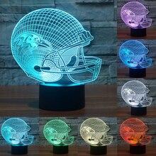 Acrylic light Baseball cap Baltimore Ravens 3D LED night light 7 color change USB table desk Lamp touch sensor as gift IY803655