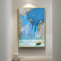 Abstract art acrylic painting hand painted canvas painting blue quadro caudro decor wall art pictures for living room wall decor