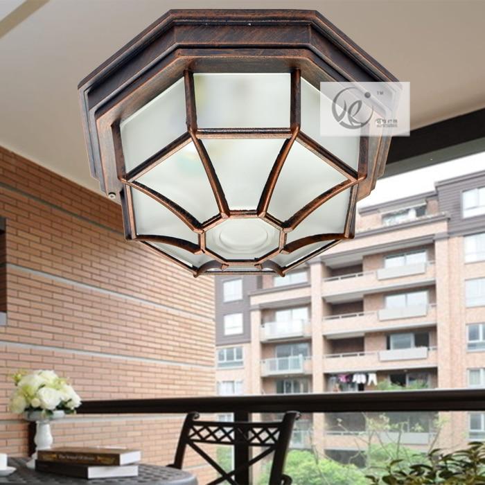 Outdoor waterproof ceiling light outdoor balcony the door - Waterproof bathroom ceiling lights ...