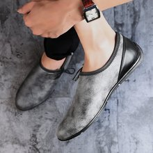 Loafer Men Shoes Men's Leather Casual Shoes Classic Fashion Lace Up Flats Men Shoe Flat Heel Sneakers Masculino Plus Size 47