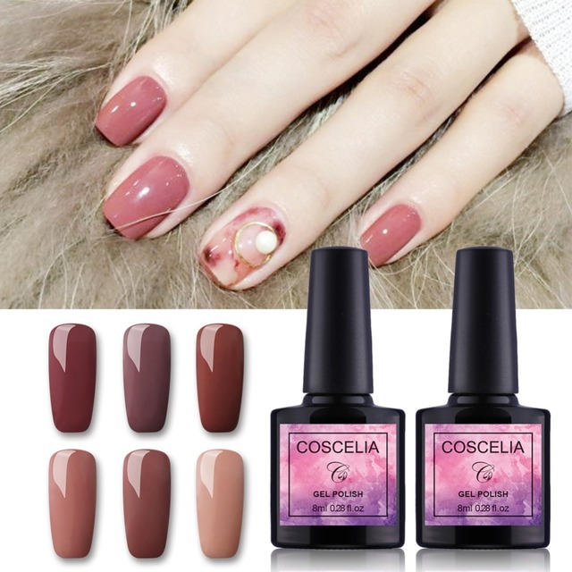 Pink 8ml Gel Nail Polish All For Manicure Pedicure Polishes Tips Decoration