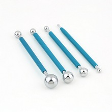 1Set Double sided 4 tools Modelling stainless steel Ball Tools sugar paste cake12.9