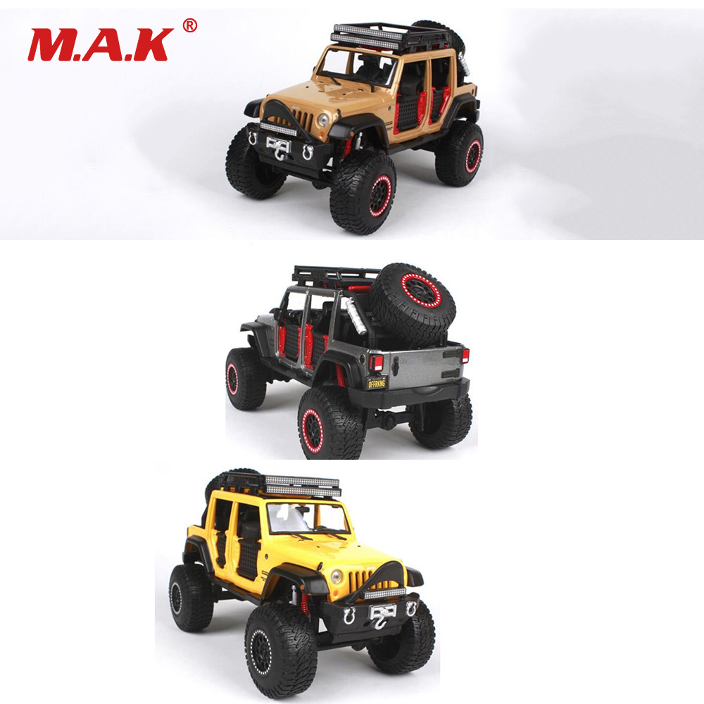 все цены на Car Toys for Children 1:24 Scale Jeep Wrangler Unlimited Diecast Car Model 3 Colors Collectible SUV Models Gifts for Kid Boys онлайн