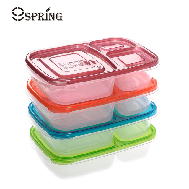 Plastic Food Containers Set Microwavable Lunch Bento Box Food Storage  Container With Compartments Lunchbox For Kids