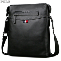 VICUNA POLO Men Leather Messenger Bag Multifunction Crossbody Bag Fashion New Shoulder Pack for Laptop Casual Handbag for Male