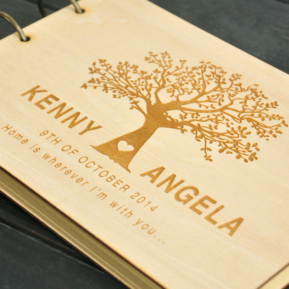 custom wedding tree guest book wedding guestbook album personalized wooden guest book bridal shower wedding gifts w100pags in signature guest books from