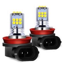 2 sztuk H8 H11 H10 H16 PSX24W 9006 HB4 9005 HB3 PY24W P13W 1800LM Chip CREE samochodowa żarówka LED Anti Fog światła Auto lampa DRL biały żółty tanie tanio RAISE STAR 12 v