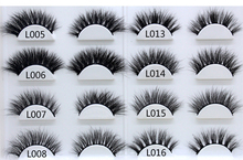 1 Pair High Quality 3D Mink Hair False Eyelashes Natural Fashion Soft Long Eye Lash Cosmetic Drop Shipping