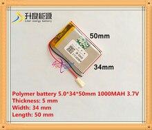 3.7V Rechargeable 1000mah Li-ion