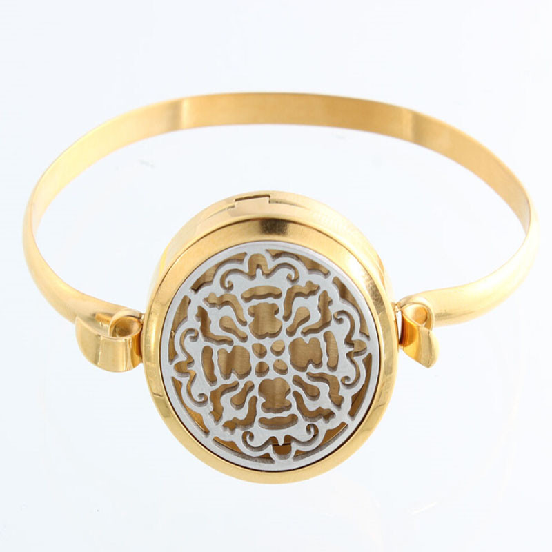 Lotus flower with circle band magnetic aromatherapy essential oils lotus flower with circle band magnetic aromatherapy essential oils diffuser locket bangles bracelets 5pcsfree pads mightylinksfo