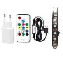 USB LED Strip RGB WS2812B DC5V 1m/2m/3m/4m/5m SMD 5050 Remote Controller Addressable pixel tape Led TV Back Under Cabinet lamp