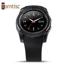 V8 smart watch uhr mit sim tf slot bluetooth konnektivität für apple iphone android telefon smartwatch uhr