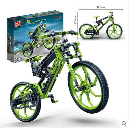Banbao 6959 bicycle Car Model 165 pcs Plastic Building Block Sets Educational DIY Bricks Toys for children