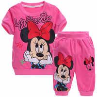 Baby Mädchen Kleidung Sommer Kinder Kleidung Mädchen Sets Minnie Kinder Kleidung Trainingsanzug Für Mädchen Sport Anzug Kurzarm + Hose 2 Pcs