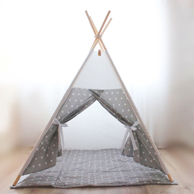 size 40 e5116 9e58d US $86.13 |Small Star design Children's tent baby toy house Children play  tent Cotton tents Baby dollhouse teepee house-in Toy Tents from Toys & ...