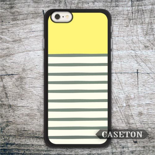 Yellow Stripes Case For iPhone 7 6 6s Plus 5 5s SE 5c 4 4s and For iPod 5 Lovely Ultra Protective Cover Global Drop Shipping