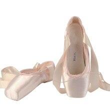 Pink Satin Ballet Shoes Quality Adult Sapatilha De Ponta De Ballet Pointe Shoes for Women Girls Ballet-shoes-pointe