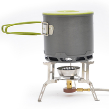 Outdoor portable picnic camping pot Portable Cooking 1 person fishing Heat collecting energy saving Cookware