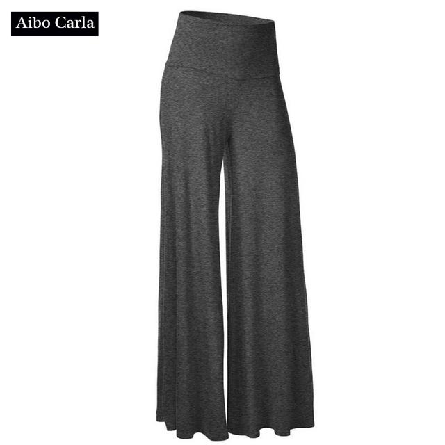 20 Cor Mulheres Calças De Pernas Largas 2017 Primavera Moletom De Algodão Cintura Elástica Calças Homewear Dia Casuais Calças Compridas JL504