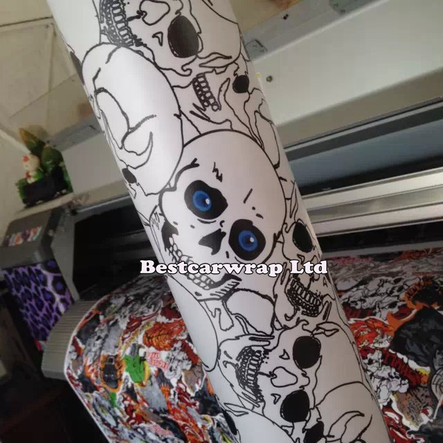 Aliexpress Com Buy Cool Skull Pvc Car Pattern Decorative