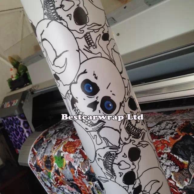 Aliexpress Com Buy Cool Skull Pvc Car Pattern Decorative