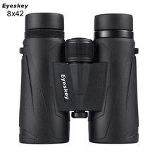 Eyeskey 8x42 prismáticos profesionales impermeables campo de visión extraancho telescopio de alta transmitancia para viajes y caza