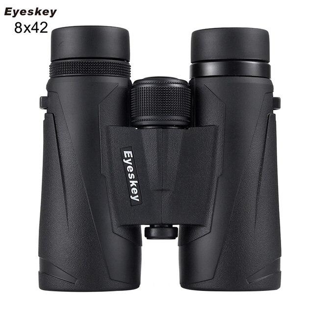 Eyeskey 8x42 전문 방수 쌍안경 여행과 사냥을위한 높은 투과율 망원경의 엑스트라 와이드 필드