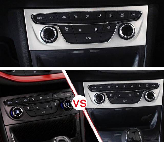 new for opel astra k 2015 2017 new matte abs accessories car interior air condition panel. Black Bedroom Furniture Sets. Home Design Ideas