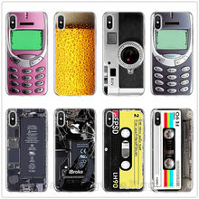 Retro Camera Cassette Tapes Calculator Keyboard Soft Phone Fundas Case For iPhone 11 Pro MAX XS Max X XR 6 6S 7 8 Plus 5 5S SE(China)