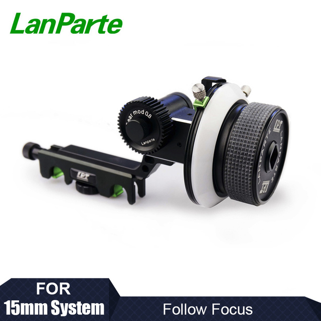 Lanparte 15mm Quick Release Follow Focus with A/B Hard Stop and Gear Ring