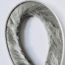 Self Adhesive Sealing Strip Felt Draught Excluder Wool Pile Weatherstrip Window Door Brush Seal 9mm x 23mm 9 x 23mm Gray