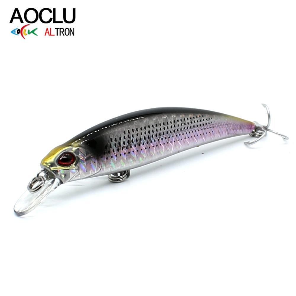 AOCLU Hard Bait Lures-Bass Sinking-Lure Fresh-Salt Crank Fishing Water-Tackle Small Minnow