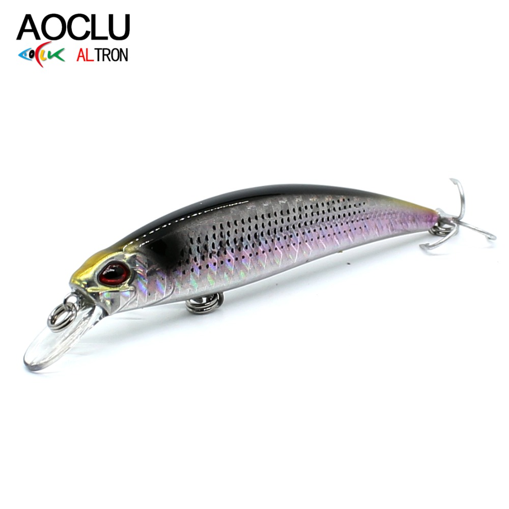 AOCLU wobblers Jerkbait 6 Colors 7cm 10g Hard Bait Small Minnow Crank Fishing lures Bass Fresh Salt water tackle sinking lure sealurer 5pcs fishing sinking vib lure 11g 7cm vibration vibe rattle hooks baits crankbaits 5 colors free shipping