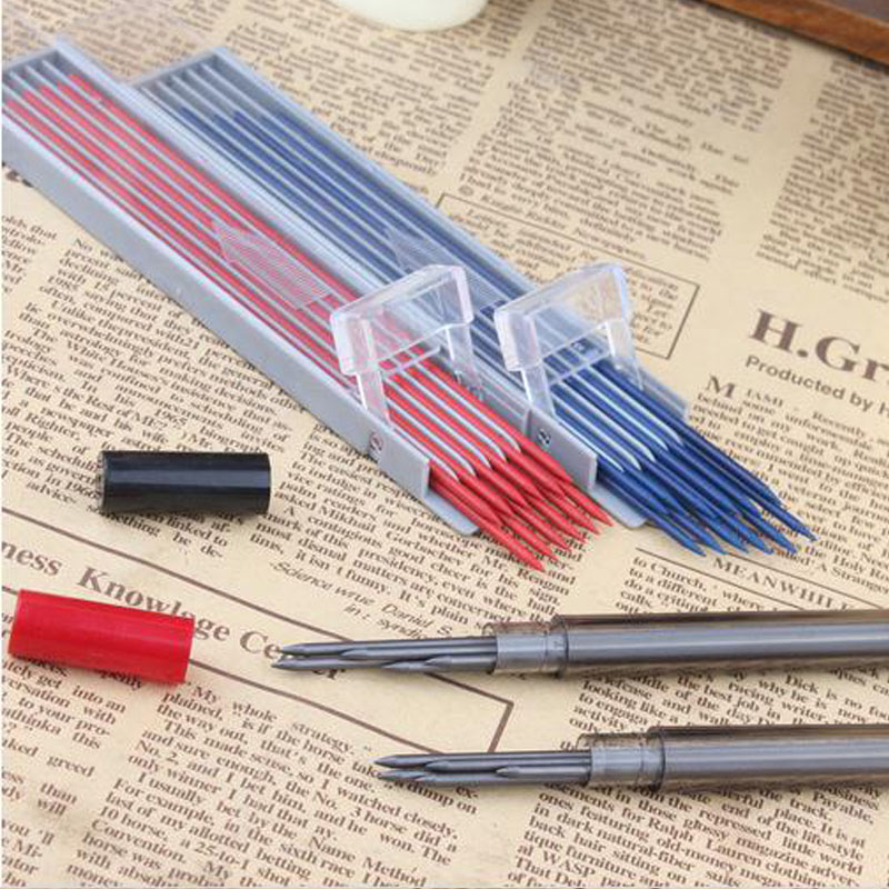Thick Pencil Core Colored Drawing 2mm Super Coarse HB / 2B / 3B / 4B Red / Blue Pencil Core Slips Mechanical Pencil Lead image
