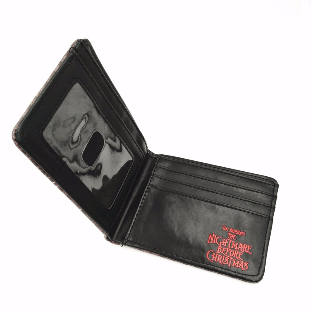 2018 Comics THE NIGHTMARE BEFORE CHRISTMAS Wallet Women & Mens Thriller Movie Cartoon Wallet Short Skull Jack Wallet W295