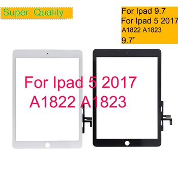 10Pcs/lot For iPad 9.7 2017 A1822 A1823 Digitizer Front Glass Panel For New iPad 5 2017 Touch Screen Sensor Lens Replacement