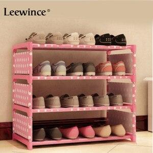 Image 4 - Leewince خزانة خذاء بسيط s مصنوعات متعددة الطبقات تجميع رف الأحذية مع الحديثة بسيطة الغبار خزانة خذاء 50 سنتيمتر هايت