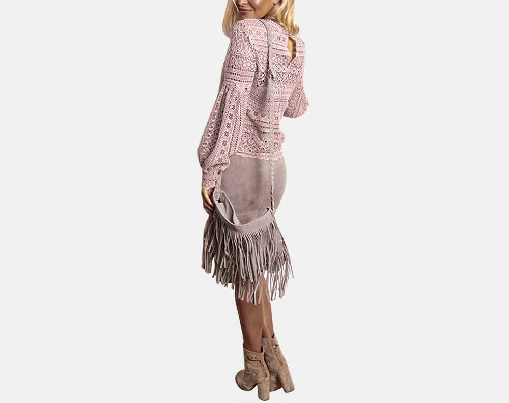 VESTLINDA Sexy Lace Hollow Out Blouse Shirt Women Blusas Feminina 2017 O Neck Lantern Sleeve Blusa Ladies Elegant Lace Blouse 12