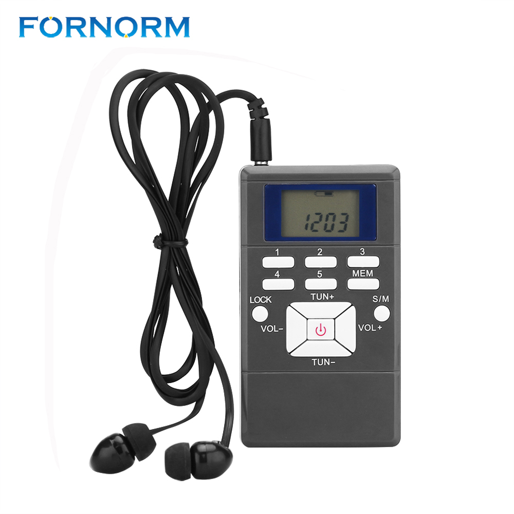 Fornorm Kurzwelligen Radio Receiver Tragbare Mini Digital Fm Master Digitale Frequenzmodulation Led-anzeige Mit String/kopfhörer Zur Verbesserung Der Durchblutung Unterhaltungselektronik