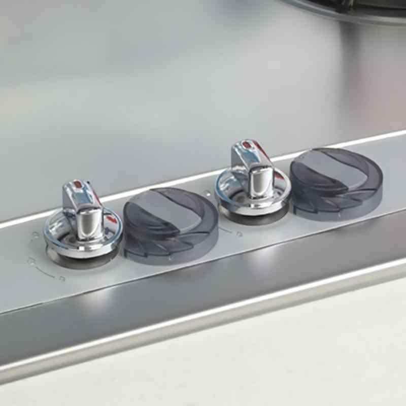 2 chiếc Bếp Gas Bếp Núm Có Ổ Khóa Bảo Vệ An Toàn cho Bé Hộp khóa Lò Bếp PC Nút núm đôi khóa Có