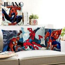 Декоративные подушки для диванов, автомобильное офисное постельное белье хлопковый Детский свитер Наволочка на подушку размером 45*45 см 1 шт. Детская футболка с рисунком Человека-паука и наволочки