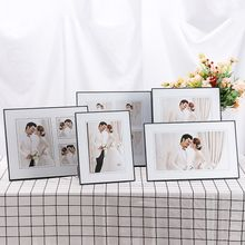 7 Inch 10 Inch Simple European Photo Frame Set Crystal Glass Photo Frame Wedding Photo Studio Special Frame(China)