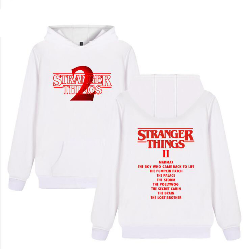 Stranger Things 2 Printed Sweatshirt Hoodies Men and Women Hip Hop Funny Winter Streetwear Hooded Tracksuit For Couples Clothes