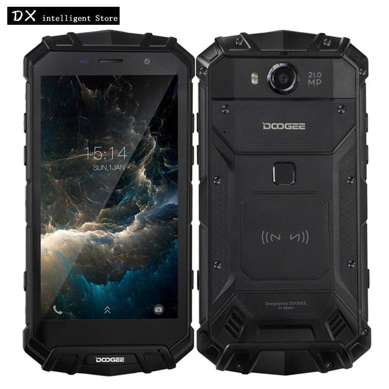 DOOGEE S60 6 gb 64 gb IP68 Étanche Mobile Téléphone Helio P25 Octa Core 5.2 FHD 21MP Android 7.0 la Charge sans fil NFC D'empreintes Digitales