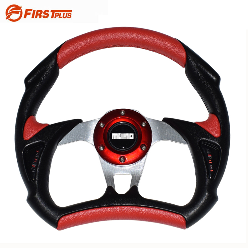 320mm 13inch PU Leather Auto Racing Car Steering Wheel Car Styling