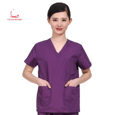 Pure Cotton Hand-washing Suit Men And Women Short-sleeve Split Suit Operating Room Isolation Suit Doctors And Nurses Uniform